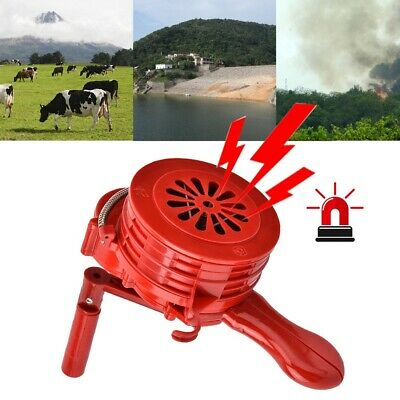Hand Crank Alarm Plastic Shell Manual Operated Air Raid Alarm Red + Black Hot