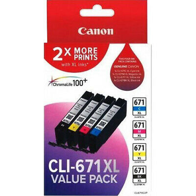 New  Canon Cli671xl Ink Cartridge Value Pack CLI671XLVP