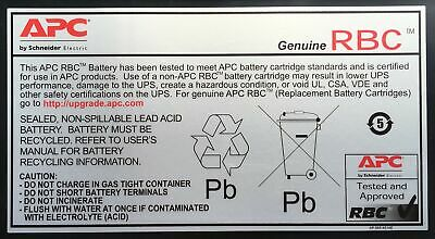 New  Apc Replacement Battery Cartridge #43 Sealed Lead Acid (Vrla) RBC43
