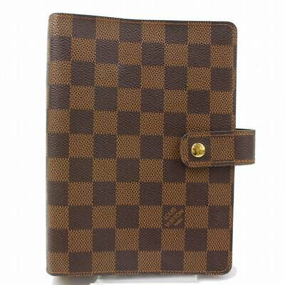 Authentic Louis Vuitton Diary Cover Agenda MM Browns Damier 361058
