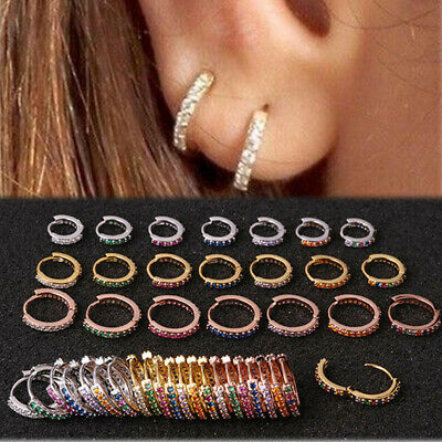 CZ Ear Cuff Nose Hoop Ring Tragus Helix Cartilage Daith Piercing Earring