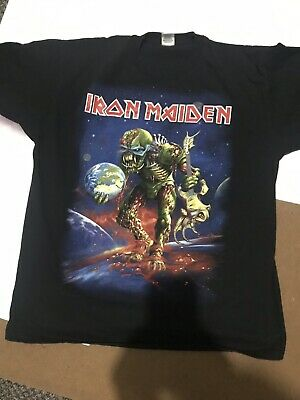 Iron Maiden Vintage XL Rare The Final Frontier World Tour 2011 UK O2 T Shirt