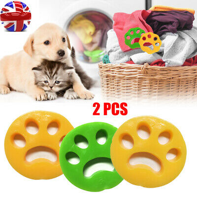 2pcs Pet Dog Cat Hair Remover Washing Machine Reusable Laundry Fur Catcher Clean