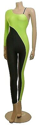 Freestyle Flo Green/Black Lycra 1 Arm With Strap Catsuit *1 AVAILABLE*