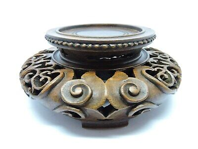 Antique Chinese Wood base stand for vase or ornament.