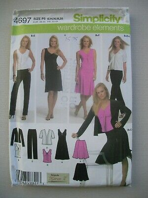 UNCUT Simplicity Sewing Pattern 4697 - Womens Misses Knit Wardrobe - Sizes 12-20