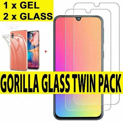 Gel Case For Samsung Galaxy A20e A71 A51 A10 A70 Gorilla Glass Screen Protector