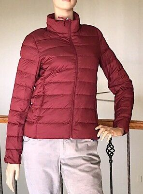 Uniqlo Women Red Ultra Light Down Jacket Nwt Size S