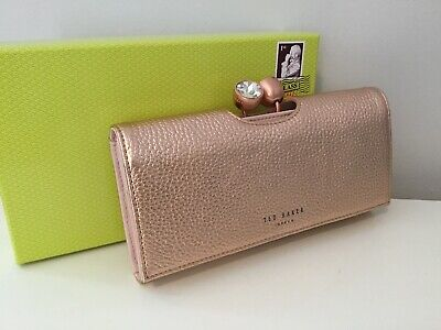 Ted Baker Rose Gold Crystal Bobble Large Leather Purse BNWTS