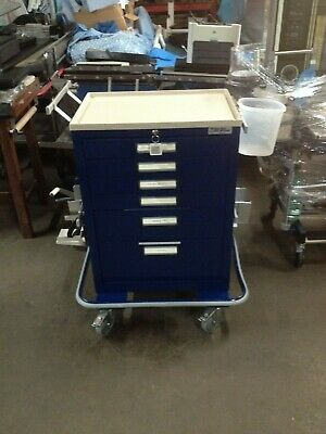 Blue Bell Bio-Medical Blue Six Drawer Medical Crash Cart