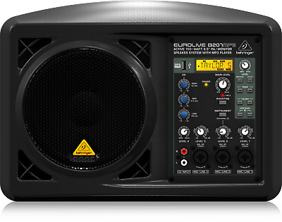 "Behringer B207MP3 Active 150-Watt 6.5"" PA/Monitor Speaker System + Warranty"
