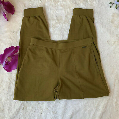 H by Halston French Terry Color Jogger Pants Womens Size S 2 Pockets