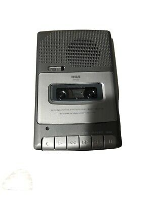RCA Battery Operated Cassette Recorder RP3503A No AC Adapter