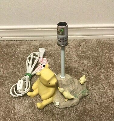 Disney Classic Winnie The Pooh Michael & Co. Lamp With Baby Ducks Tested