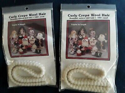 """6/""""hb Curly Braid Wool DOLL WIG /& THEATRE Facial hair Model horses Maines /& tails"""