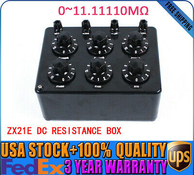 ZX21E Precision Variable Decade Resistor Resistance Tester DC Resistance Box