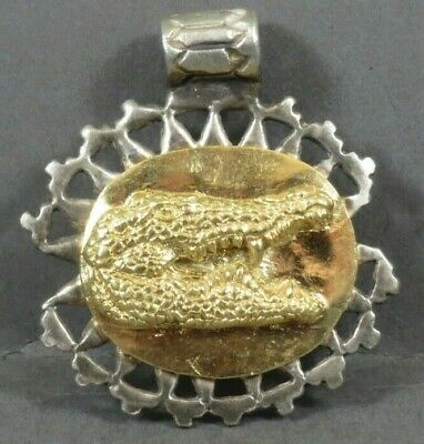 Ancient Roman Gold Silver Amulet Legionary Military Locket Crocodile Circa AD 50