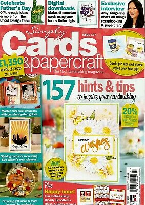 Simply Cards & Papercraft  Magazine Issue 177. 2018   No  Free Gift