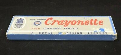 Vintage Cardboard Crayonette Empty Pencil Box.