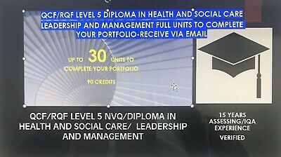 Level 5 NVQ/Diploma In Health And Social  Answers- Full Portfolio Plus Research
