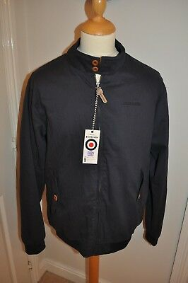 Lambretta Classic Harrington Jacket Mens Size  XL-2XL Navy, Mods Skins Scooter