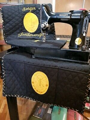 Singer Featherweight Sewing Machine Dust cover 3 PC set CHOICE of badge 221 222