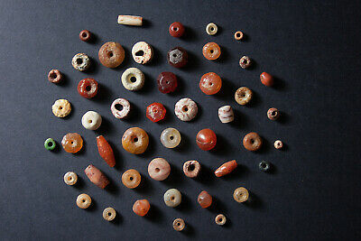 Big lot of selected ancient neolithic beads perles Mali Africa Carnelian Agate