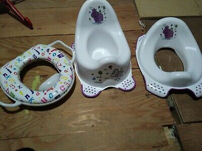 Toddler Girls/Boys Potty And Toilet Seats X2
