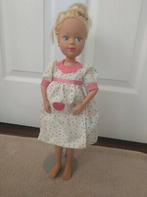 1992 Tyco Mommy's Having A Baby Pregnant 18 Inch Doll Stand Included