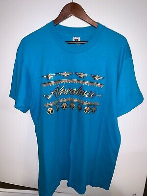 "VTG Fruit of the Loom ""Ahwahnee""  Blue T-Shirt - Size L - Pre-Owned"