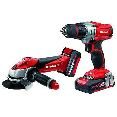Einhell Garden Working Drill & Angle Grinder Kit Power Tool Sets Cordless Drills