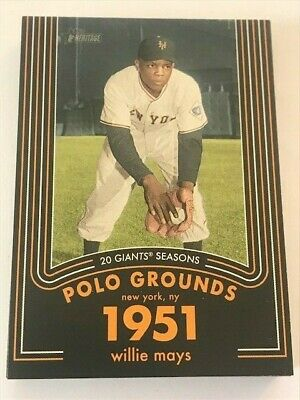 2020 TOPPS HERITAGE WILLIE MAYS INSERTS Card Complete Your Set U You Pick List