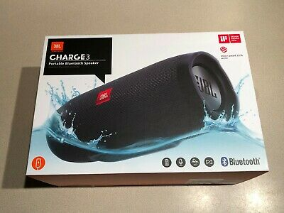 NEW - JBL Charge 3 Wireless Portable Bluetooth Stereo Speaker - Black