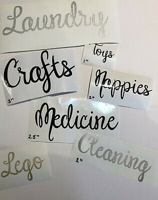Hinch Stacey Solomon Inspired you choose the 6 labels Script Font Vinyl Decals