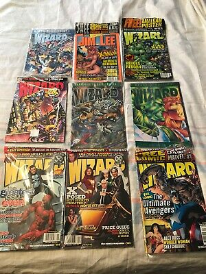 Wizard Comic Magazines Lot Of 9, Collectors, Tributes, And Special Editions