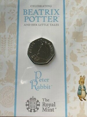 Peter Rabbit 2018 50p Coin Brilliant Uncirculated Royal Mint BUNC Sealed Pack