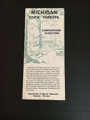 Michigan State Forests Campground Directory - Northern -Upper Peninsula 1970s