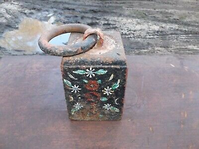 old vintage 28 LB weight barn find rare