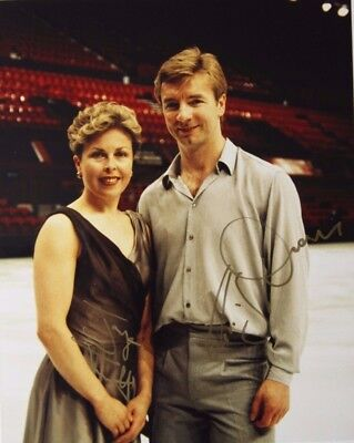 TORVILL AND DEAN original hand signed mounted photo 10 x 8 inch by Mel Longhurst