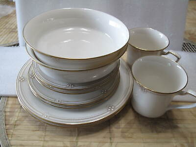 Noritake SATIN GOWN Lot Of 10 pc soup bowls salad bb plates cups saucers MINT