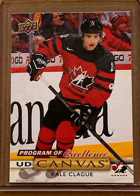 2019 20 Upper Deck Hockey Series 2 KALE CLAGUE Canvas Program of Excellence TC