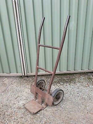 Vintage Cast Metal Iron Trolley