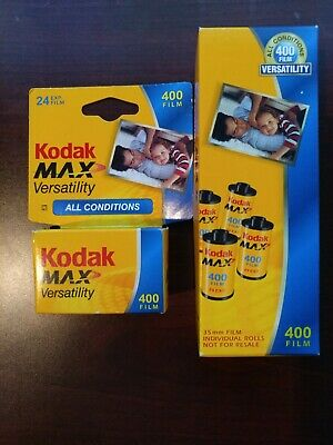 Lot of 5 rolls (120 exp) Kodak Ultra Max 400 35mm Color Film EXP 1/2007-2/2008