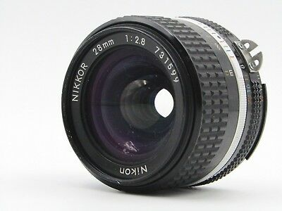 【As-Is】 Nikon Nikkor Ai-S ais 28mm F/2.8 Wide Angle SLR MF Lens From JAPAN #2084