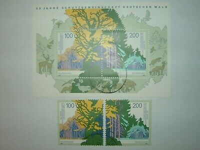 1997 GERMANY GERMAN FOREST PROTECTION MINISHEET & STAMPS VFU (sgMS2771)