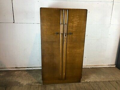 Vintage 1930's Tudor Rose Single Wardrobe with Shelves
