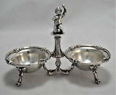 N 3034s BELLISSIMO PORTA SALSE PUTTO in SILVER PLATED CHRISTOFLE