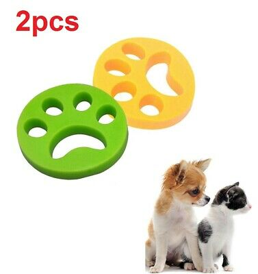 2PCS Pet Hair Remover Washing Machine Reusable Laundry Fur Catcher Cleaning Tool