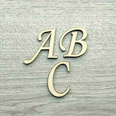 Wooden Letters & Numbers SCRIPT Bold Font Alphabet Letters & Numbers,3mm