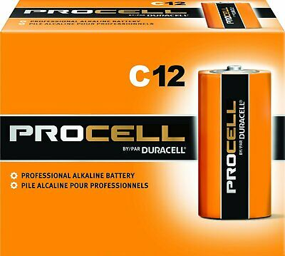 Duracell Procell C12 Professional Alkaline Battery 12 C Batterys